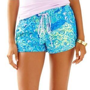 Lilly Pulitzer Blue Luxletic Run Around Shorts